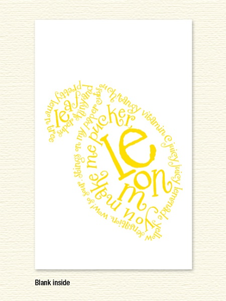 Lemon Poem Note Card