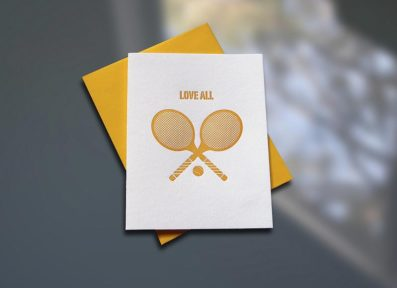 Love All Letterpress Note Card – Sky of Blue Cards – $4.50