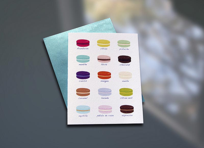Macaron Chart Note Card