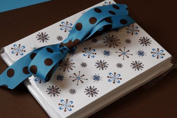 Modern Snowflakes Holiday Card