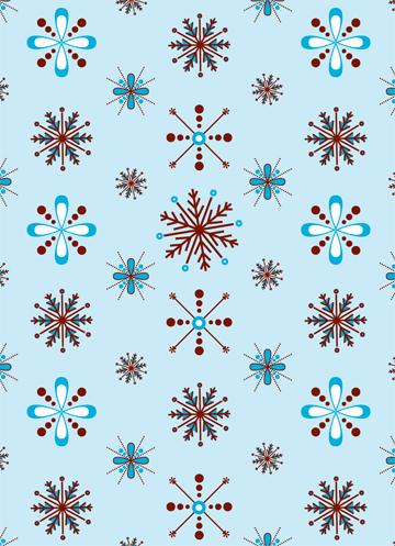 Modern Snowflakes Gift Wrap