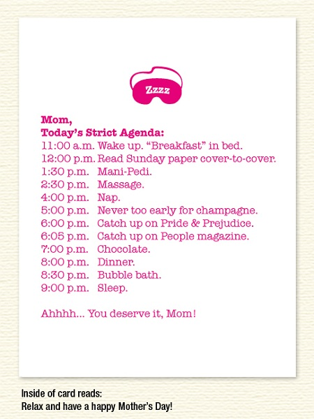 Mom Agenda – Mother's Day