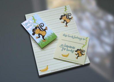 Monkey Notepad Set – Sky of Blue Cards – $7-$19