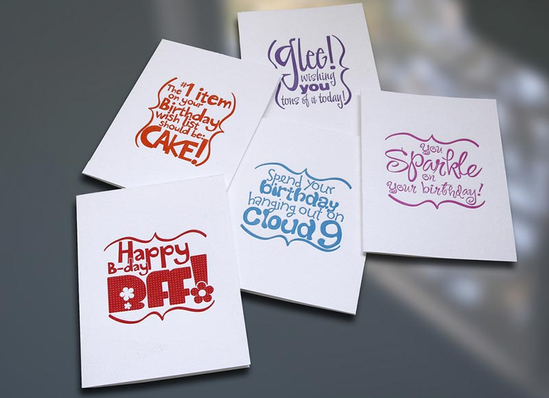 Glee! Birthday Card