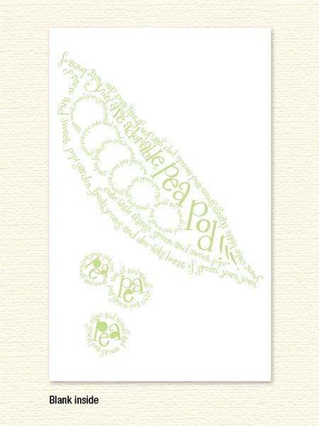 Pea Pod Poem Note Card