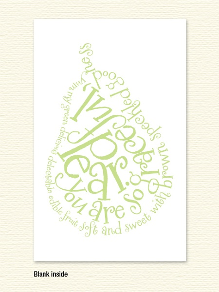 Pear Poem Note Card