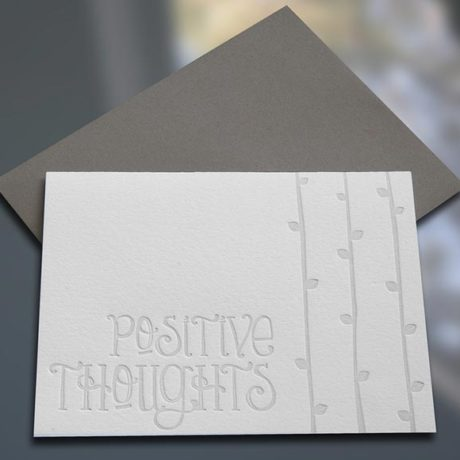 Positive Thoughts Note Cards
