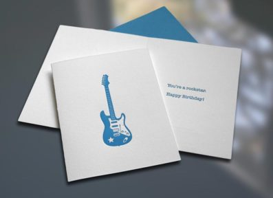 Rockstar Letterpress Birthday Card – Sky of Blue Cards – $4.50