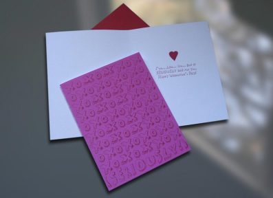 Seriously Valentine's Day Card – Sky of Blue Cards – $4.50