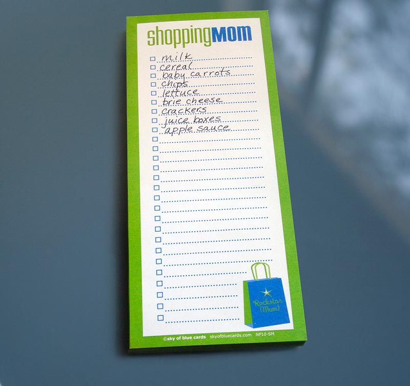 Shopping Mom Notepad