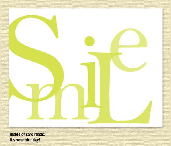 """Smile"" Birthday Card"