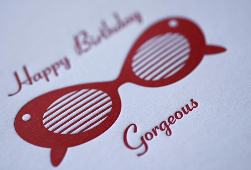 Sunglasses Birthday Card