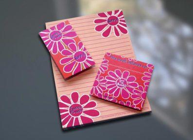 Tween Flower Notepad Set – Sky of Blue Cards – $7-$19