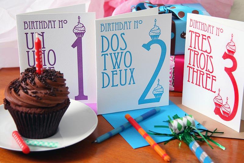 Birthday No. Tre Trois Three