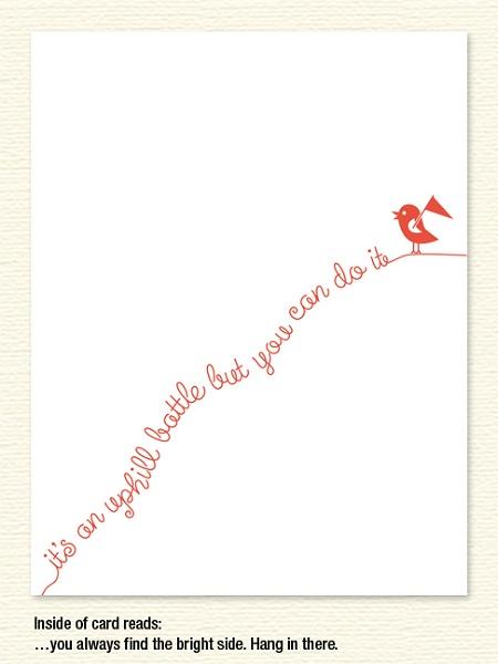 Uphill Birdie – Encouragement
