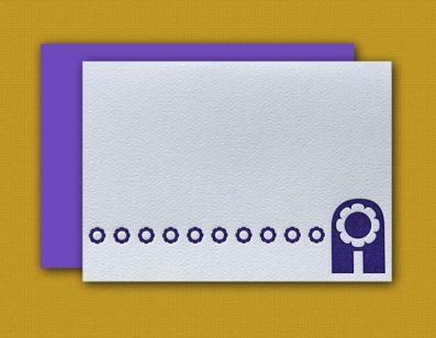 """A"" Monogram Letterpress Note Cards – Sky of Blue Cards – Set of 6 Cards $16"