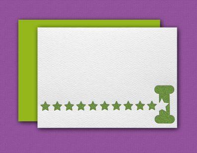 """""""I"""" Monogram Letterpress Note Cards – Sky of Blue Cards – Set of 6 $16"""
