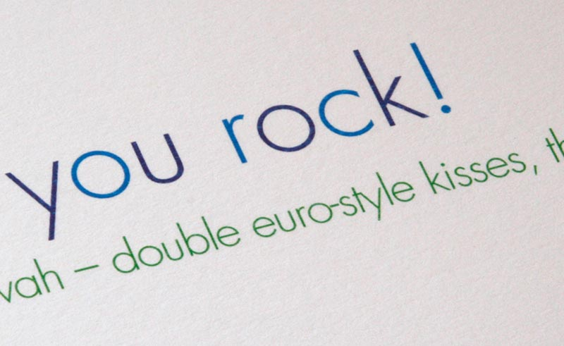 You rock! Thank You Card