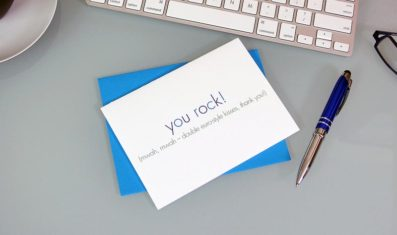 You Rock Thank You Card – Sky of Blue Cards – $4.50 single $18 boxed set of 8