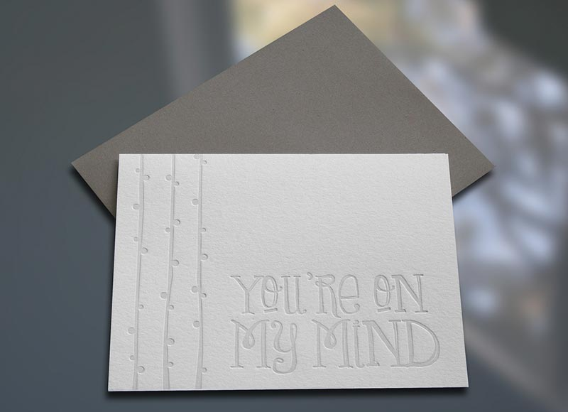 You're on My Mind Note Cards