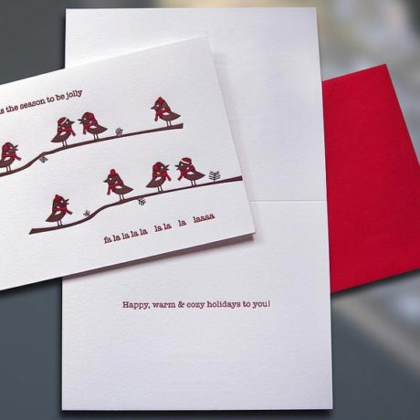 Birdies Fa La La La La – Holiday Card