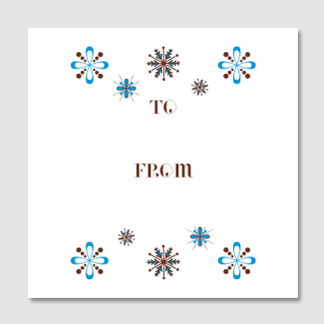Modern Snowflakes Gift Tags – Sky of Blue Cards – $6 for set of 10