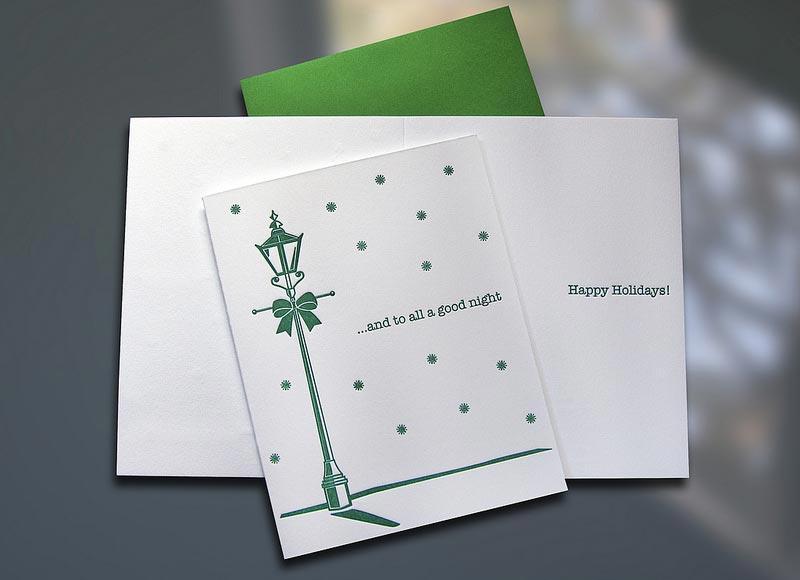 Holiday Lamp Post Card