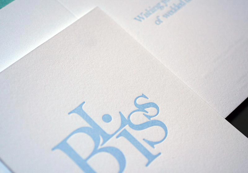 Bliss (stacked) – Wedding Card