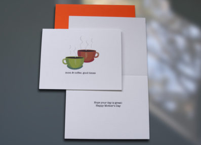 Mom & Coffee Mother's Day Card – Sky of Blue Cards – $4.50 each