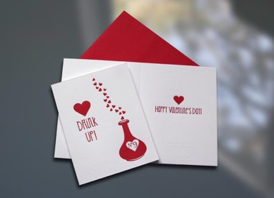 Love Potion Letterpress Valentine's Day Card – Sky of Blue Cards – $4.50