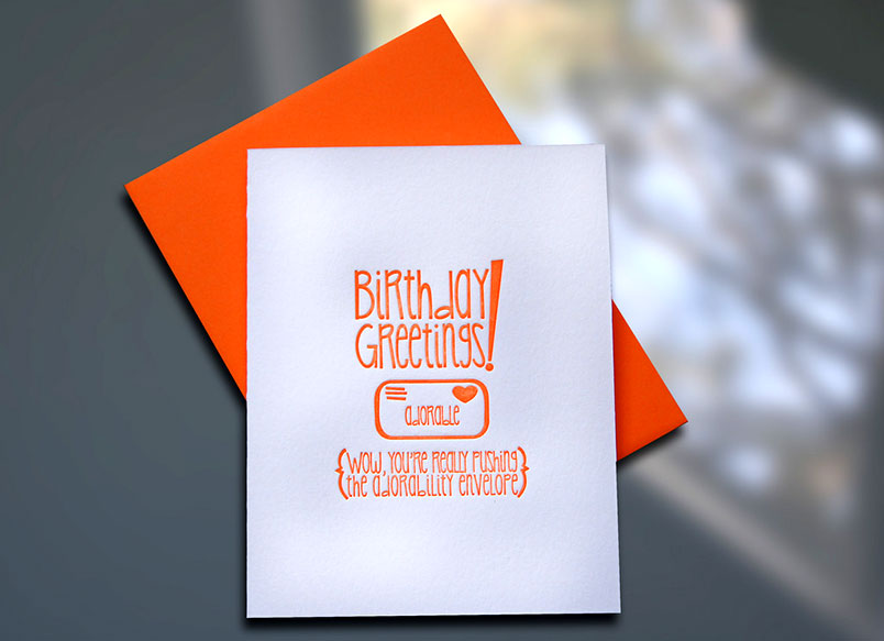 Birthday Adorability Envelope