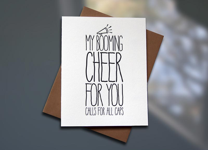 Cheer – ALL CAPS