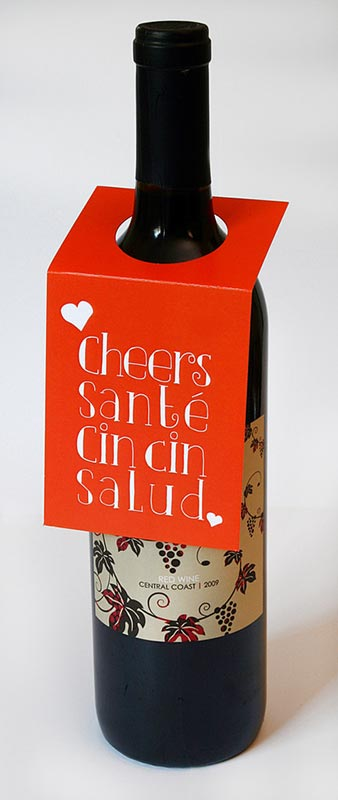 Cheers Wine Bottle Tag