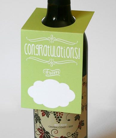 Congratulations Wine Bottle Tag