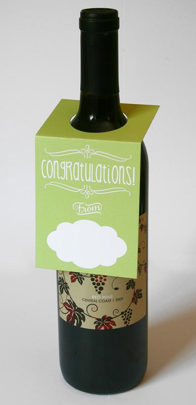 Congratulations Wine Bottle Tags – Sky of Blue Cards – $5.00