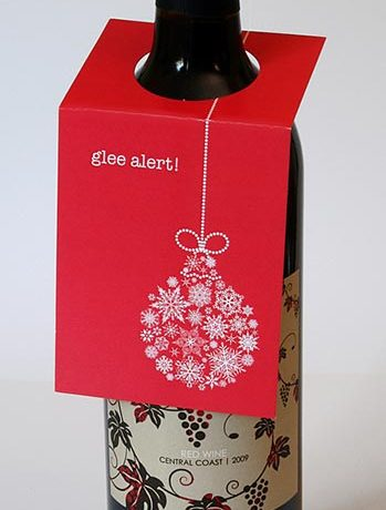 Glee Alert Wine Bottle Tag