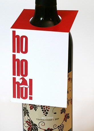 Ho-Ho-Ho! Wine Bottle Tag
