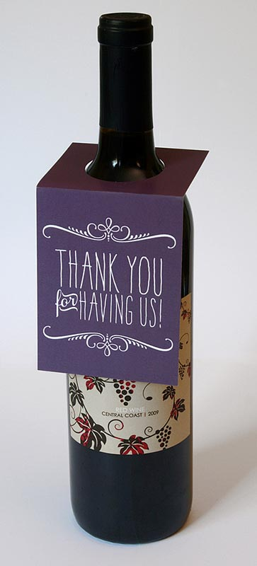 Thank You Wine Bottle Tag