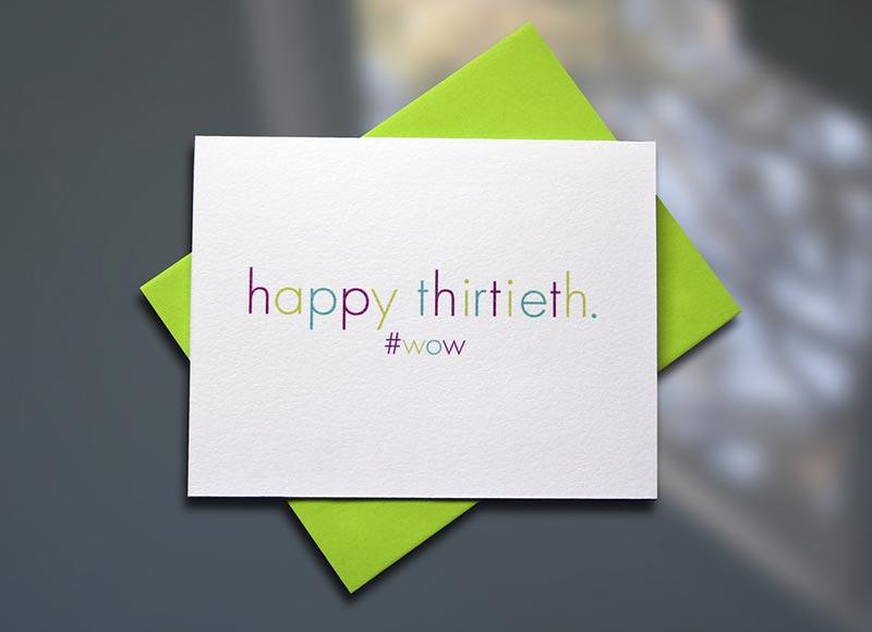 Happy Thirtieth
