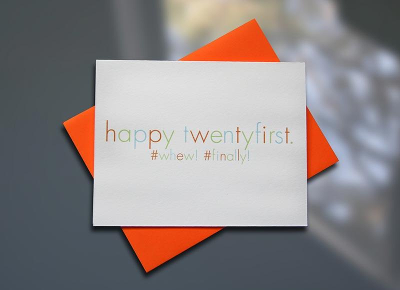 Happy TwentyFirst