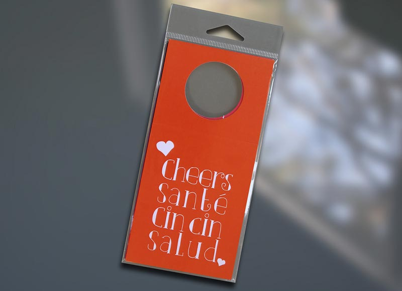 Cheers Wine Bottle Tag