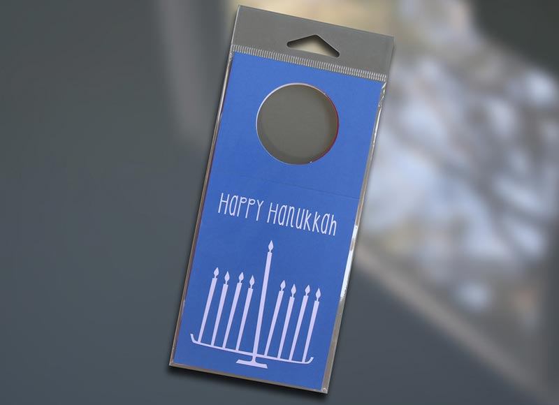 Hanukkah Wine Bottle Tag