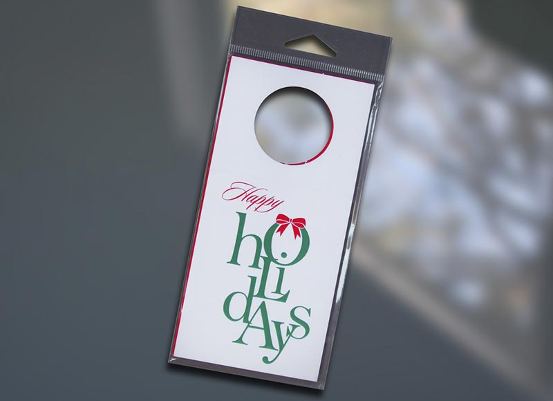 Holidays (stacked) Wine Bottle Tag