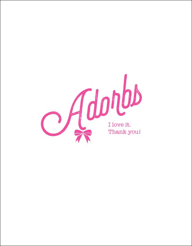 Adorbs Thank You Card