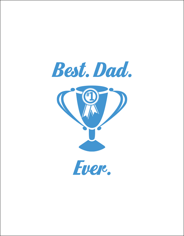 Best.Dad.Ever. Father's Day Card