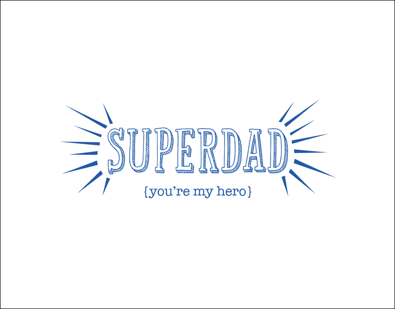 Super Dad – Father's Day Card