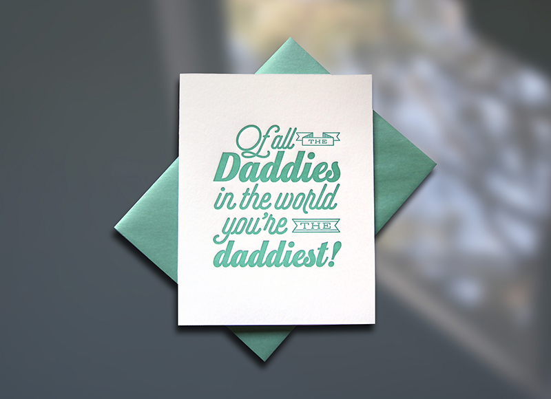 Daddy World Father's Day Card