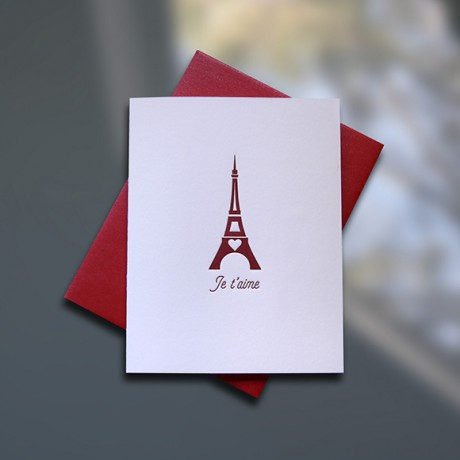 Je t'aime – Love Note Card