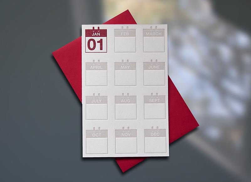New Year Calendar Pattern Mini