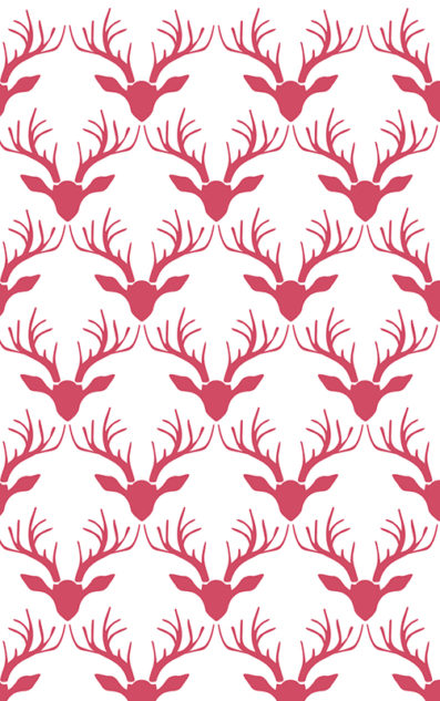 Antlers Pattern Holiday Gift Wrap from Sky of Blue Cards $6 for 2 sheets
